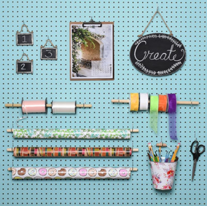 Pegboards make highly versatile retail displays.